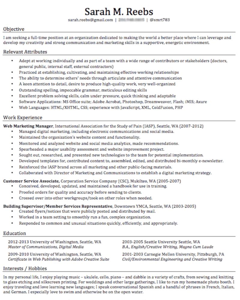 Bad resume